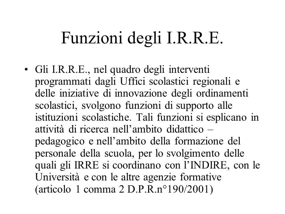 Funzioni degli I.R.R.E.