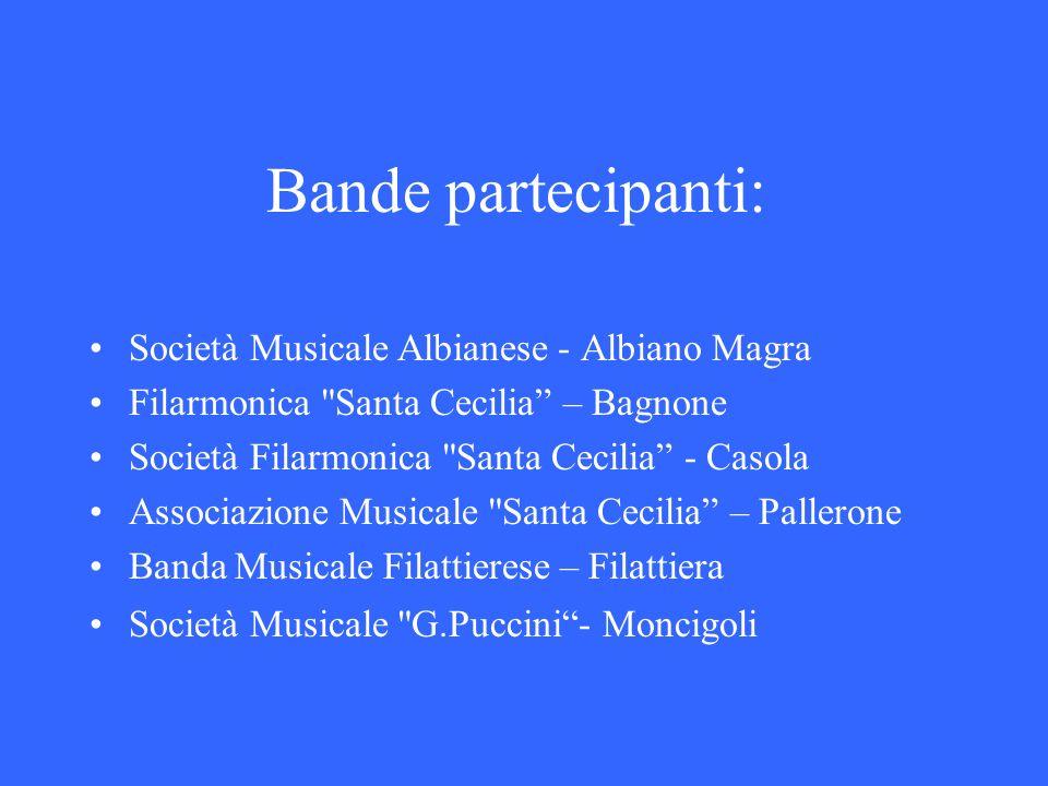Bande partecipanti: Società Musicale Albianese - Albiano Magra Filarmonica