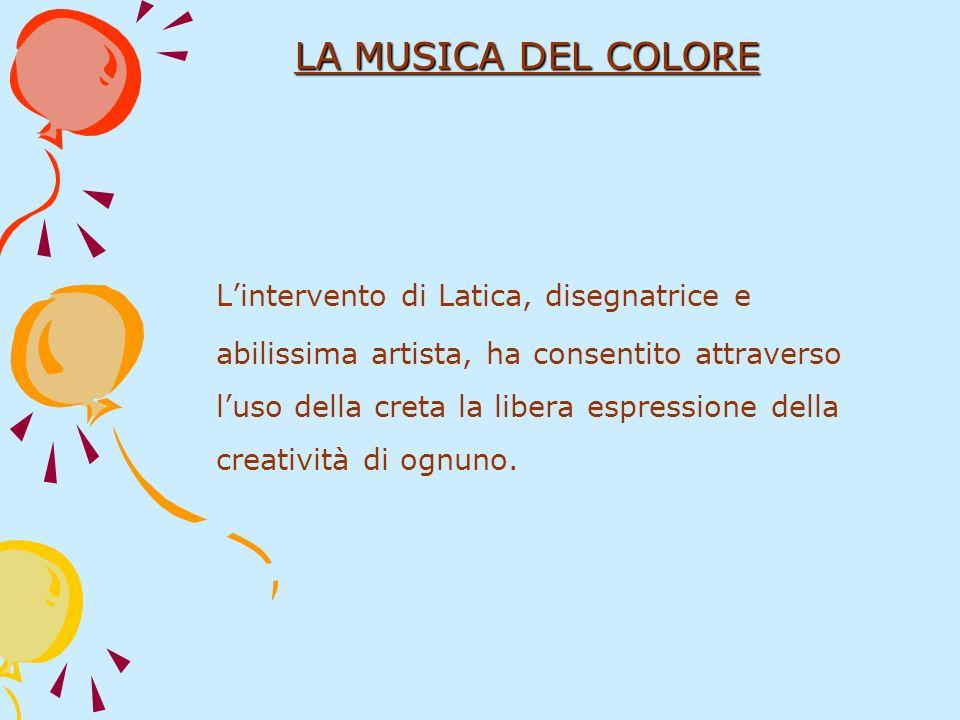 Lintervento di Latica, disegnatrice e abilissima artista, ha consentito attraverso luso della creta la libera espressione della creatività di ognuno.