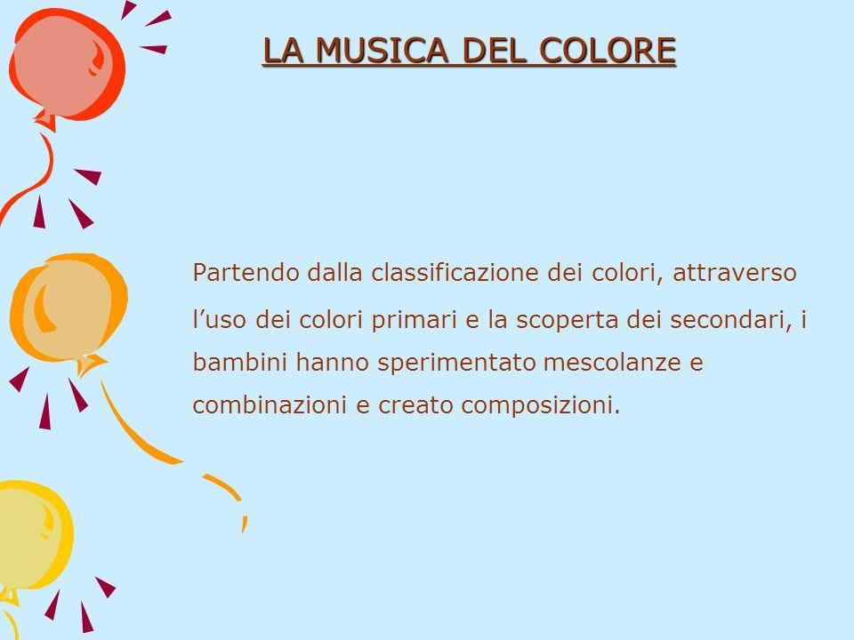 Partendo dalla classificazione dei colori, attraverso luso dei colori primari e la scoperta dei secondari, i bambini hanno sperimentato mescolanze e c