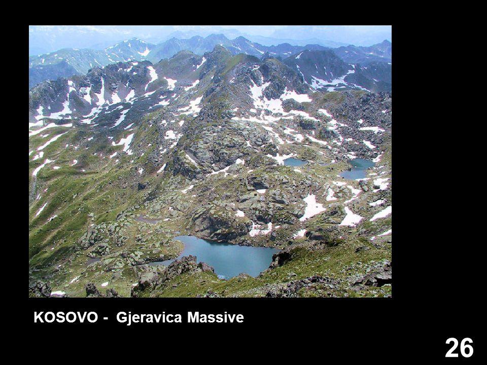 26 KOSOVO - Gjeravica Massive