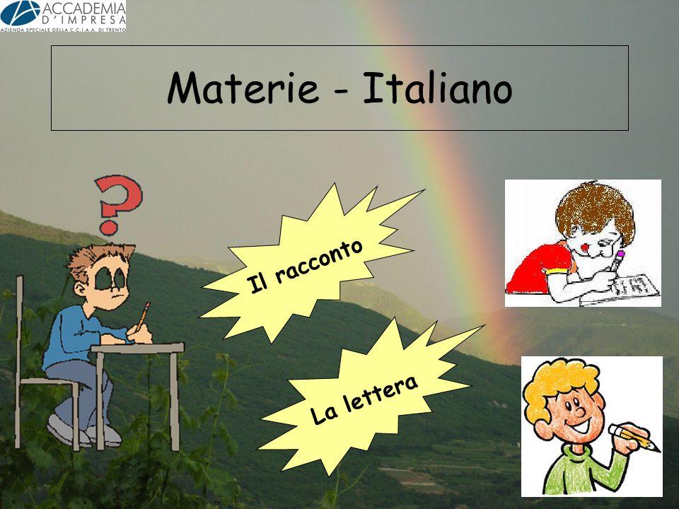 Materie - Italiano Il racconto La lettera