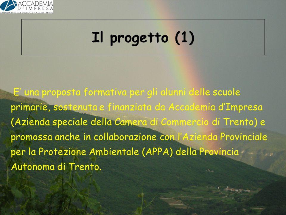 Il progetto (1) E una proposta formativa per gli alunni delle scuole primarie, sostenuta e finanziata da Accademia dImpresa (Azienda speciale della Ca