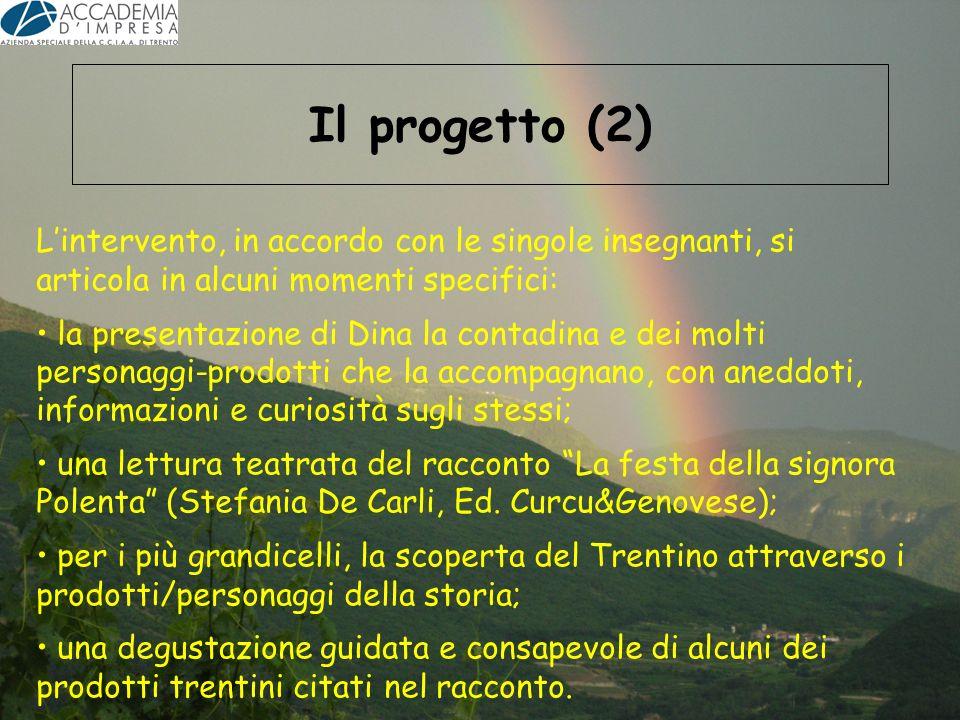 Il progetto (2) Lintervento, in accordo con le singole insegnanti, si articola in alcuni momenti specifici: la presentazione di Dina la contadina e de
