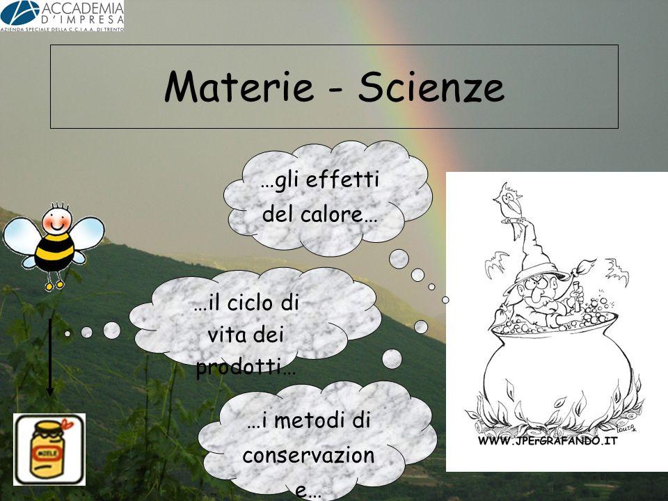 Materie - Scienze …gli effetti del calore… …i metodi di conservazion e… …il ciclo di vita dei prodotti…