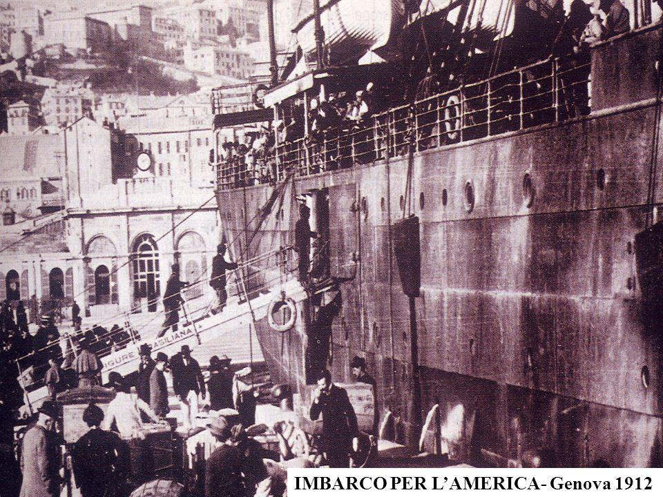 IMBARCO PER LAMERICA- Genova 1912