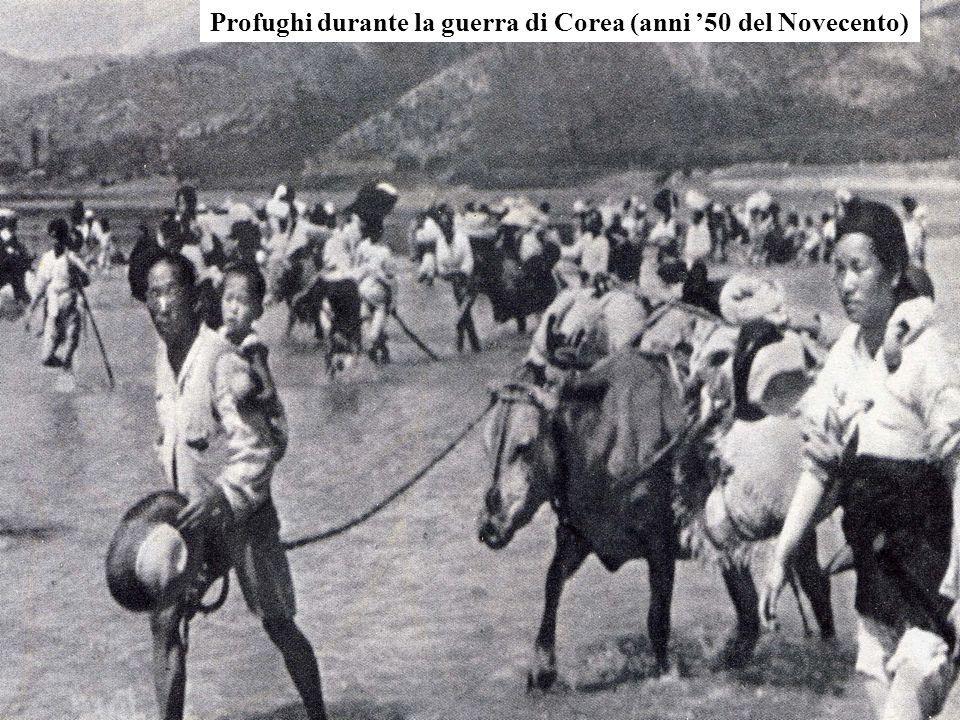 Profughi durante la guerra di Corea (anni 50 del Novecento)