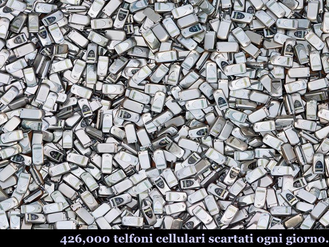 426,000 telfoni cellulari scartati ogni giorno.