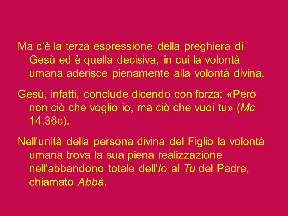 Sappiamo bene che la parola aramaica Abbà è quella che veniva usata dal bambino per rivolgersi al papà ed esprime quindi il rapporto di Gesù con Dio P