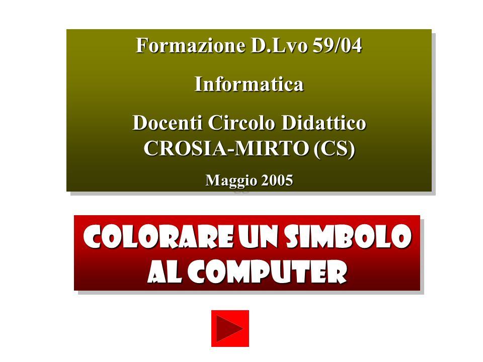Formazione D.Lvo 59/04 Informatica Docenti Circolo Didattico CROSIA-MIRTO (CS) Maggio 2005 Formazione D.Lvo 59/04 Informatica Docenti Circolo Didattic