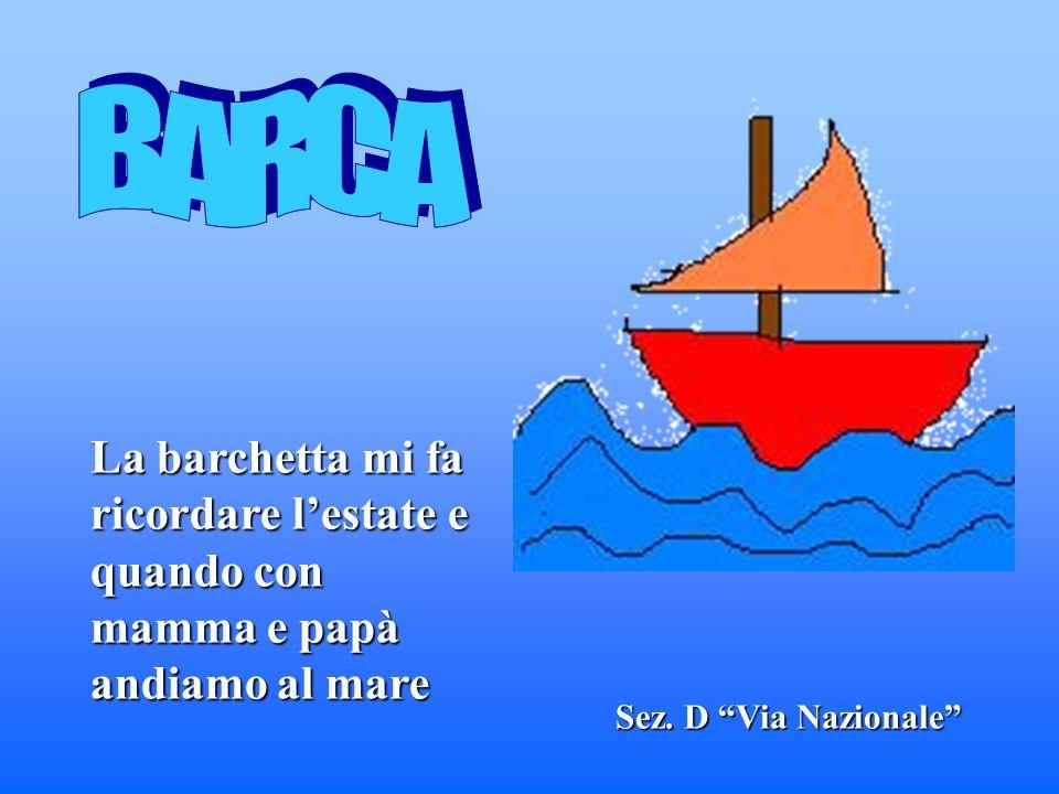 Sez. D Via Nazionale La barchetta mi fa ricordare lestate e quando con mamma e papà andiamo al mare