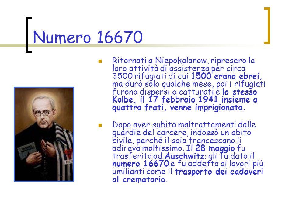 Numero 16670 Alla fine di luglio avviene l evasione di un prigioniero.