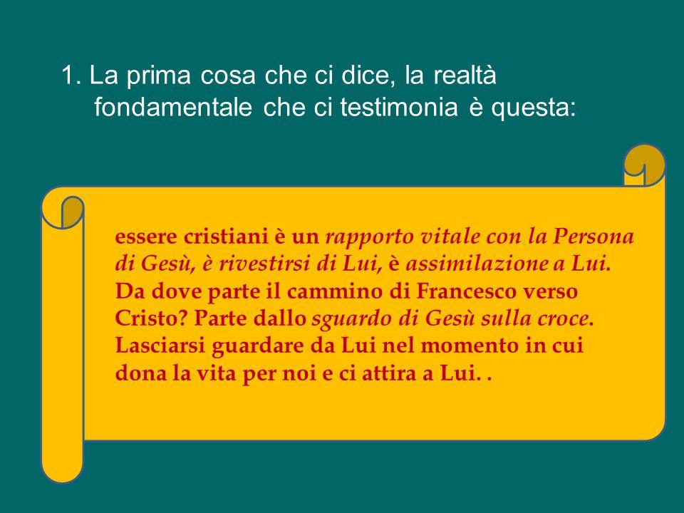 Che cosa testimonia san Francesco a noi, oggi? Che cosa ci dice, non con le parole – questo è facile – ma con la vita?