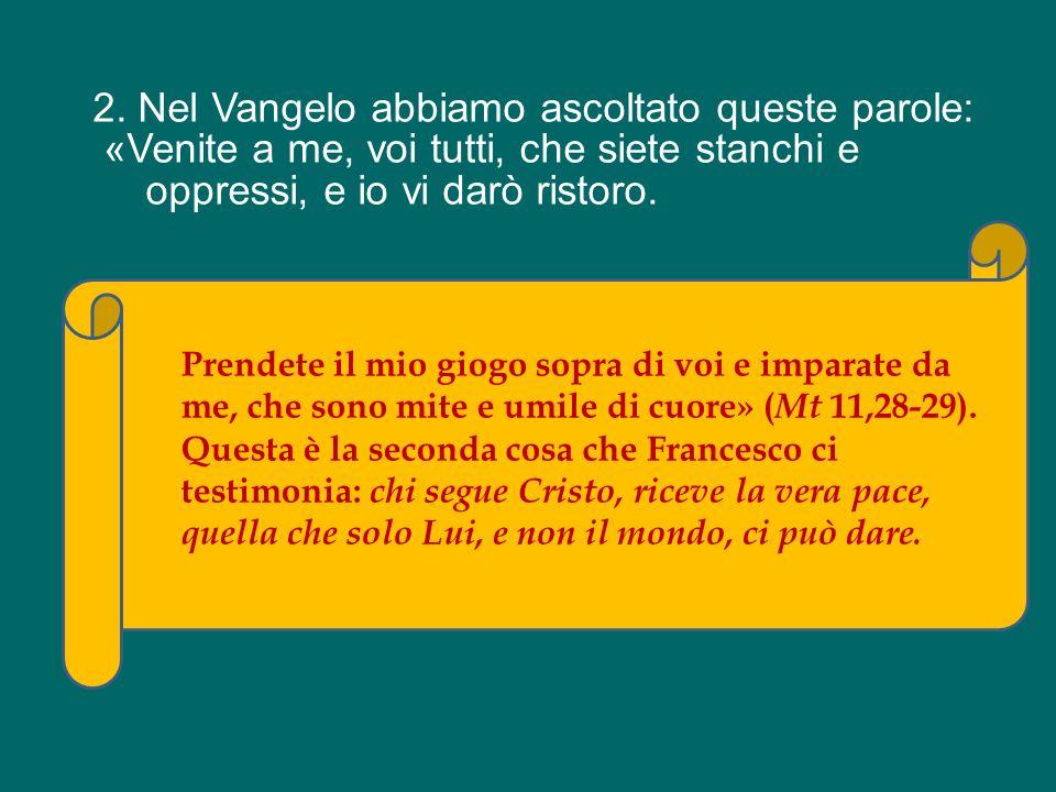 Ci rivolgiamo a te, Francesco, e ti chiediamo: insegnaci a rimanere davanti al Crocifisso, a lasciarci guardare da Lui, a lasciarci perdonare, ricrear