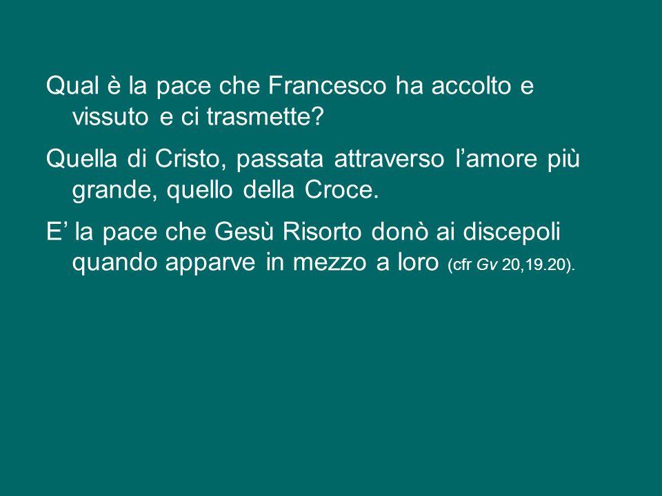 San Francesco viene associato da molti alla pace, ed è giusto, ma pochi vanno in profondità.