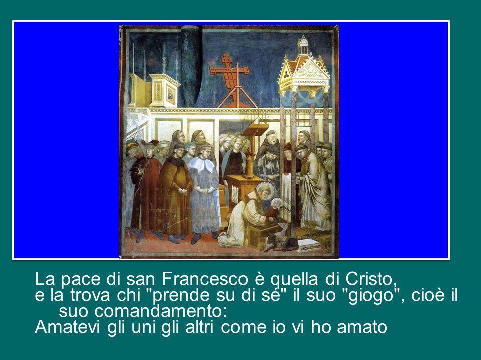 La pace francescana non è un sentimento sdolcinato. Per favore: questo san Francesco non esiste! E neppure è una specie di armonia panteistica con le