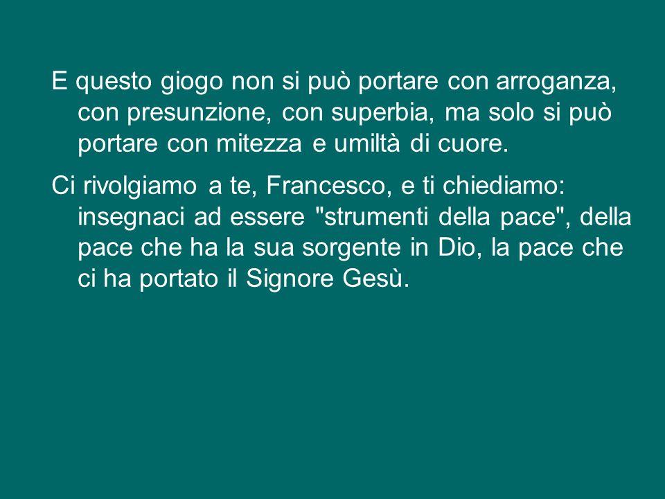 La pace di san Francesco è quella di Cristo, e la trova chi