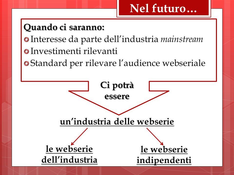 Nel futuro…