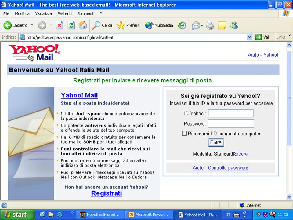 Internet e Posta elettronica Corsi UMTS 26 marzo 200340