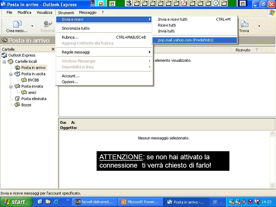 Internet e Posta elettronica Corsi UMTS 26 marzo 200353 ATTENZIONE: se non hai attivato la connessione ti verrà chiesto di farlo!
