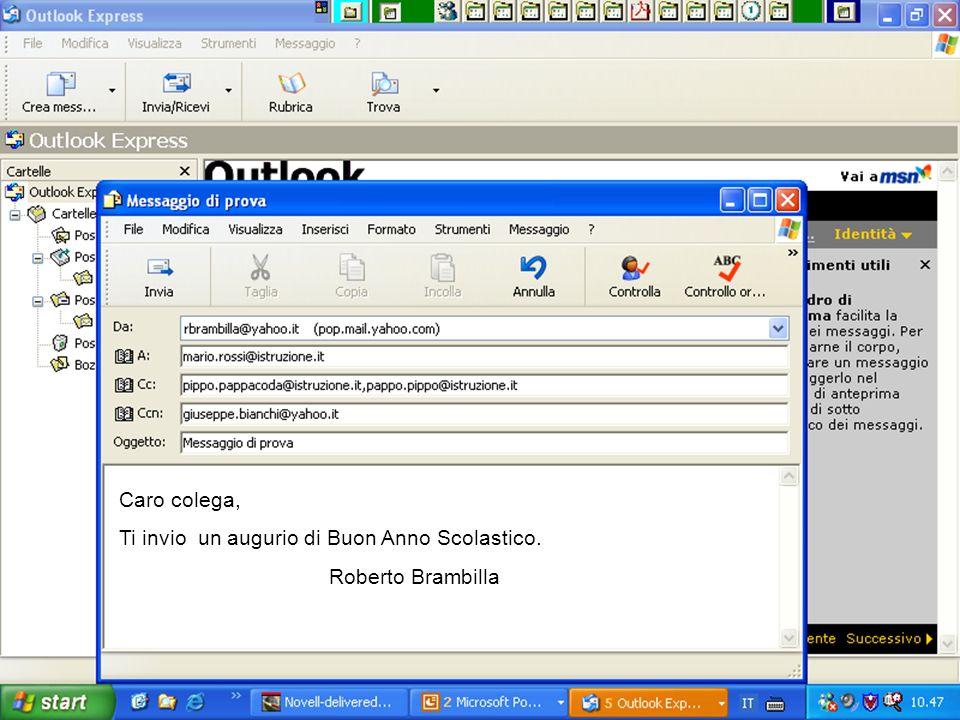 Internet e Posta elettronica Corsi UMTS 26 marzo 200368 Caro colega, Ti invio un augurio di Buon Anno Scolastico.