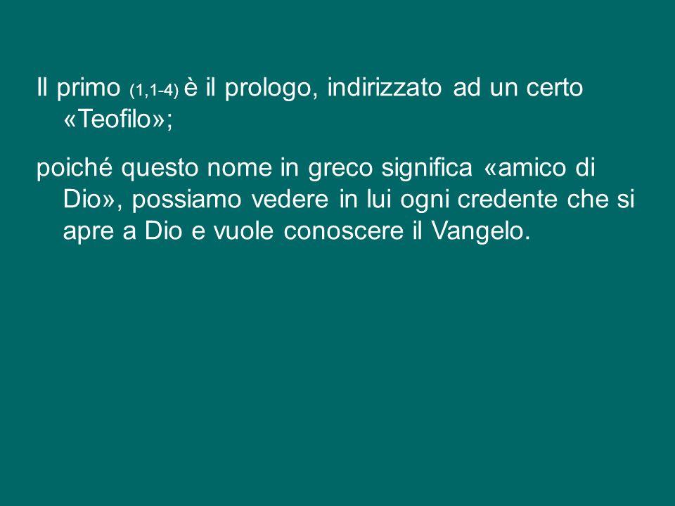 La liturgia odierna ci presenta, uniti insieme, due brani distinti del Vangelo di Luca.