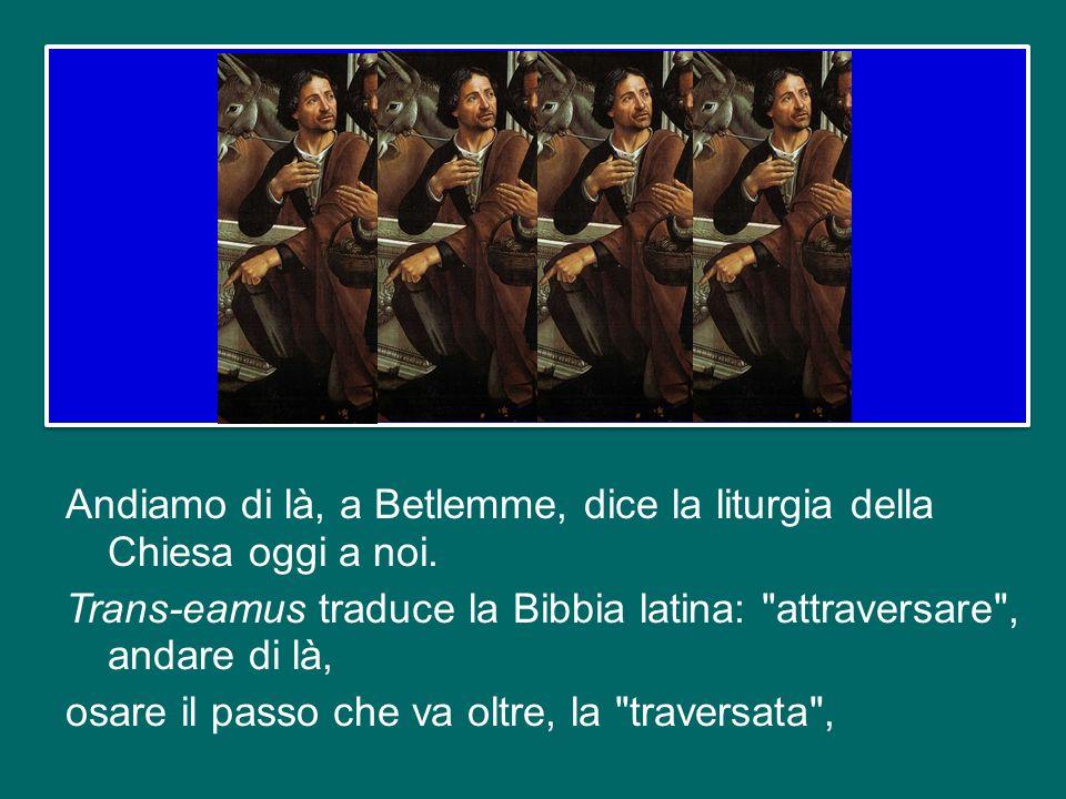 I pastori si affrettavano nel loro cammino verso Betlemme, ci dice levangelista (cfr 2,16). Una santa curiosità li spingeva a vedere in una mangiatoia