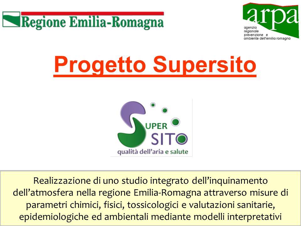 Progetto Supersito Realizzazione di uno studio integrato dellinquinamento dellatmosfera nella regione Emilia-Romagna attraverso misure di parametri chimici, fisici, tossicologici e valutazioni sanitarie, epidemiologiche ed ambientali mediante modelli interpretativi