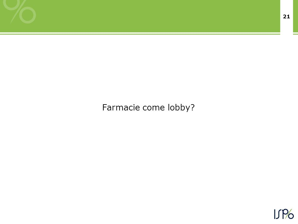 21 Farmacie come lobby?