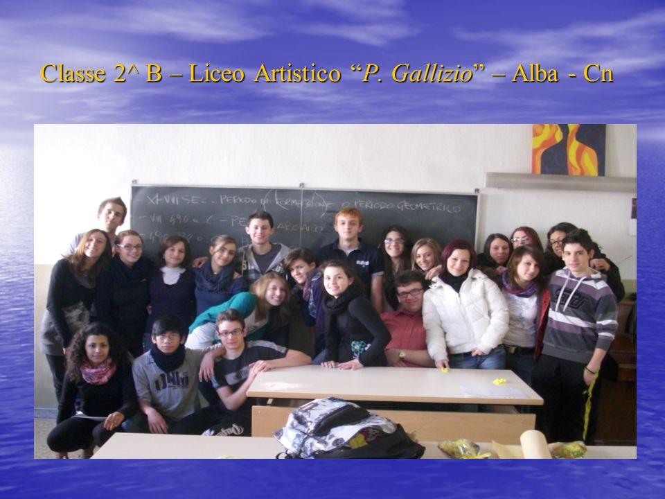 Classe 2^ B – Liceo Artistico P. Gallizio – Alba - Cn