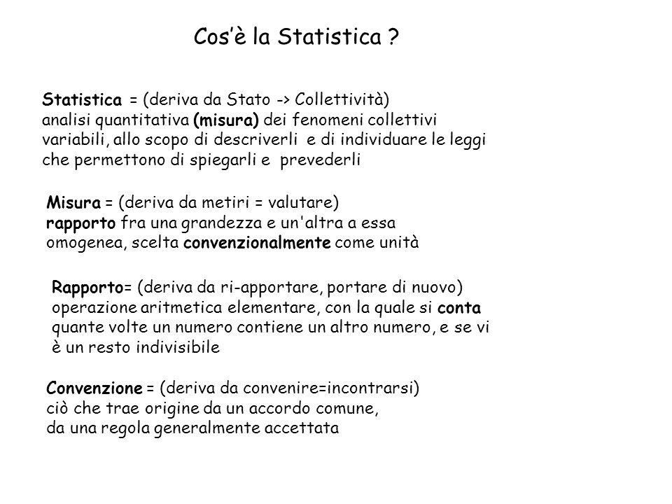 Cosè la Statistica .