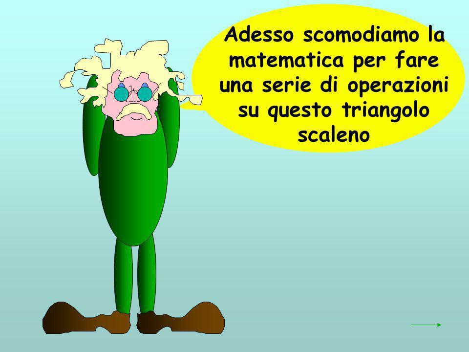 c 2 -a 2 + b 2 = bc cos + accos -ac cos -ab cos ab cos + bc cos A B C a c H c 2 = bc cos + ac cos b -a 2 = -ac cos - ab cos b 2 = ab cos + bc cos semplifichiamo: