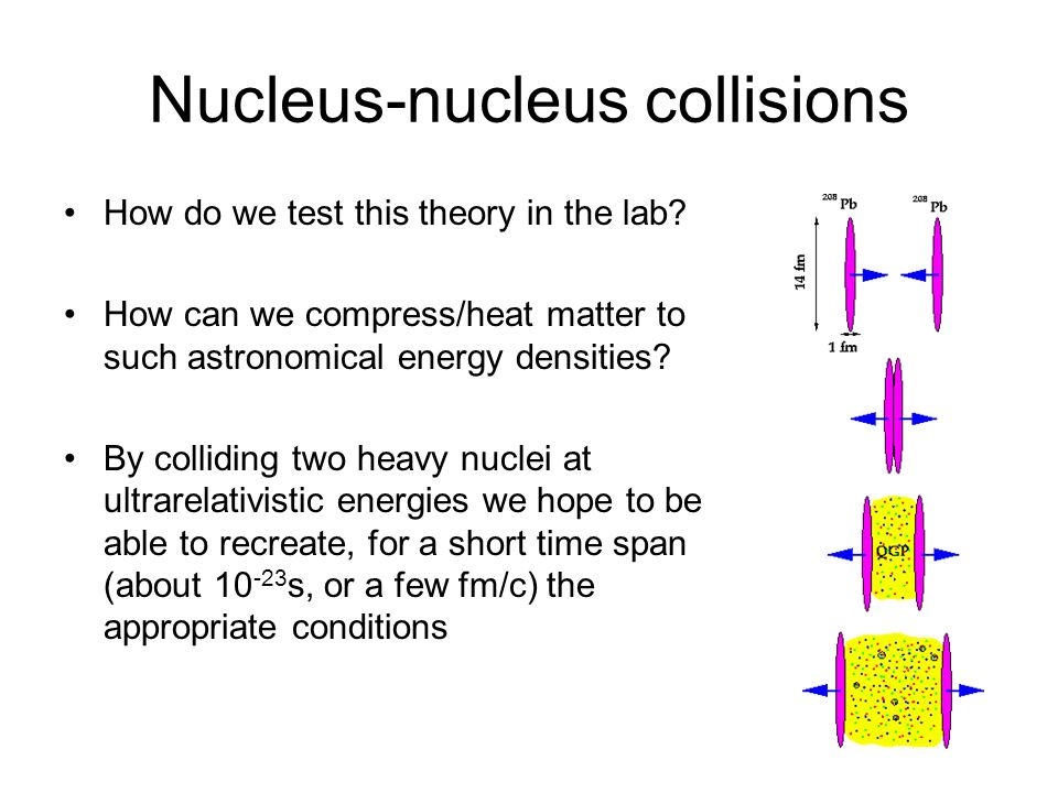 Nucleus-nucleus collisions How do we test this theory in the lab.
