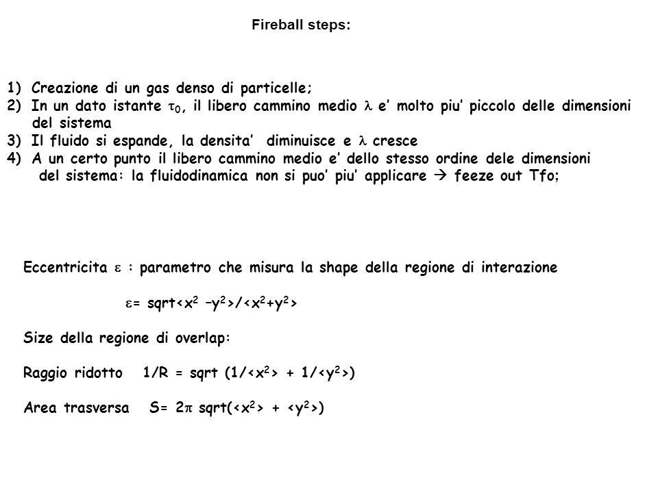 1)Creazione di un gas denso di particelle; 2)In un dato istante 0, il libero cammino medio e molto piu piccolo delle dimensioni del sistema 3)Il fluid