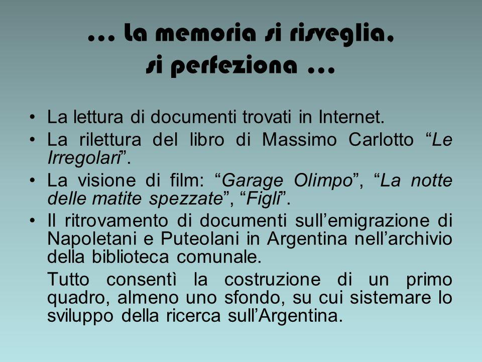 … La memoria si risveglia, si perfeziona … La lettura di documenti trovati in Internet.