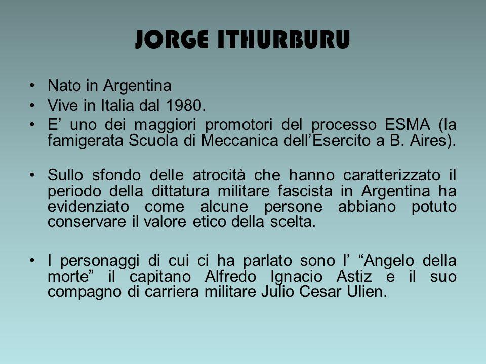JORGE ITHURBURU Nato in Argentina Vive in Italia dal 1980.