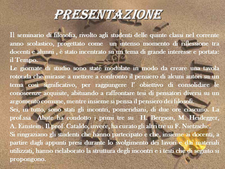 Presentazione Il seminario di filosofia, rivolto agli studenti delle quinte classi nel corrente anno scolastico, progettato come un intenso momento di