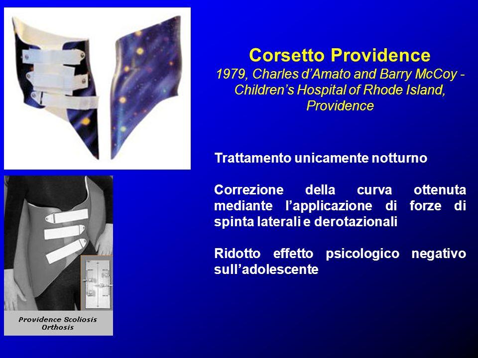 Corsetto Providence 1979, Charles dAmato and Barry McCoy - Childrens Hospital of Rhode Island, Providence Trattamento unicamente notturno Correzione d