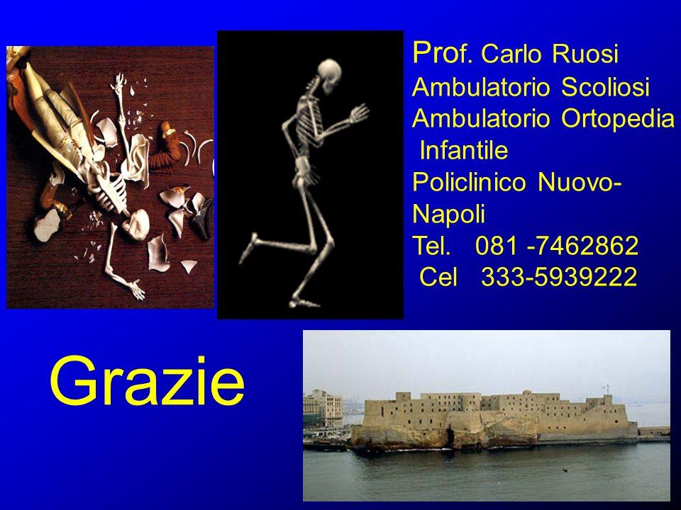 Grazie Pro f. Carlo Ruosi Ambulatorio Scoliosi Ambulatorio Ortopedia Infantile Policlinico Nuovo- Napoli Tel. 081 -7462862 Cel 333-5939222