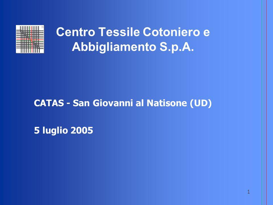 1 CATAS - San Giovanni al Natisone (UD) 5 luglio 2005 Centro Tessile Cotoniero e Abbigliamento S.p.A.