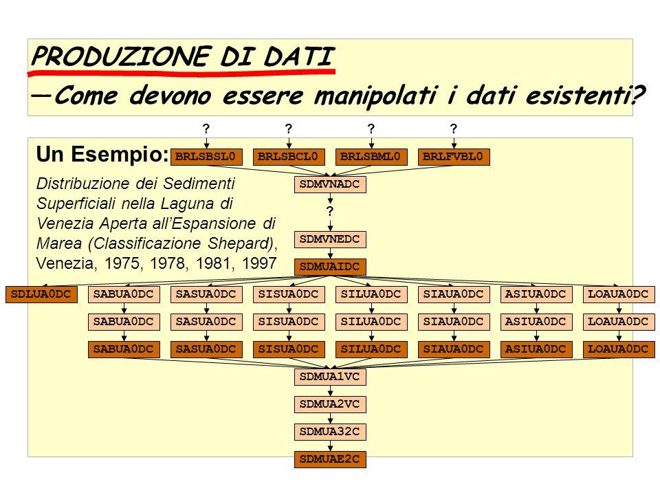 PRODUZIONE DI DATI Come devono essere manipolati i dati esistenti.