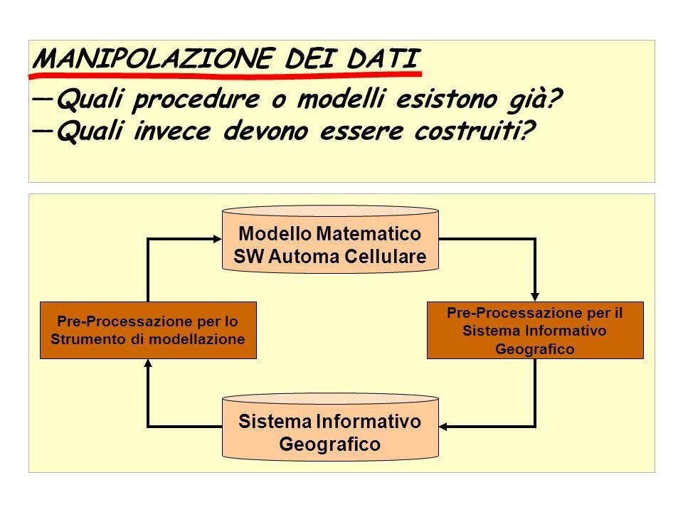 MANIPOLAZIONE DEI DATI Quali procedure o modelli esistono già.