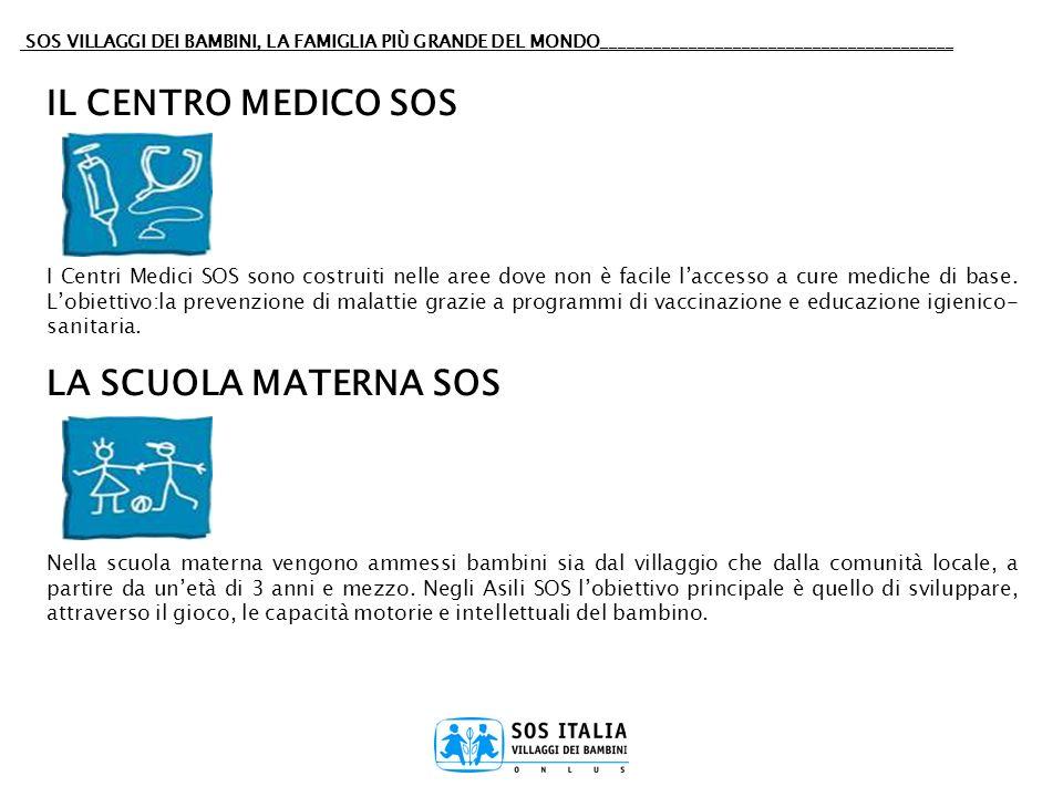 SOS VILLAGGI DEI BAMBINI, LA FAMIGLIA PIÙ GRANDE DEL MONDO________________________________________ IL CENTRO MEDICO SOS I Centri Medici SOS sono costr