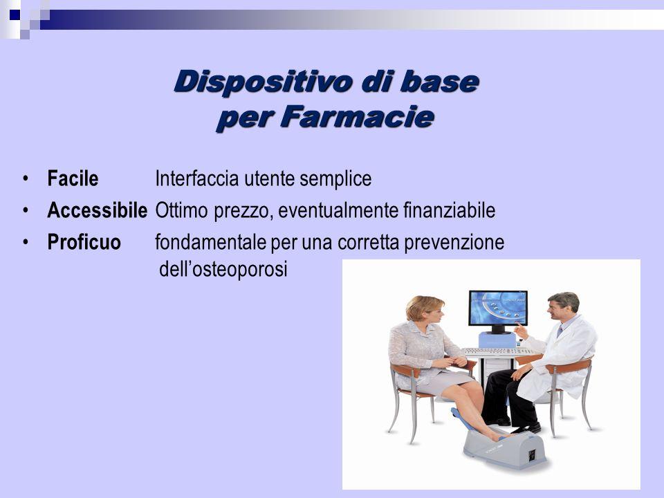 Dispositivo di base per Farmacie Facile Interfaccia utente semplice Accessibile Ottimo prezzo, eventualmente finanziabile Proficuo fondamentale per un