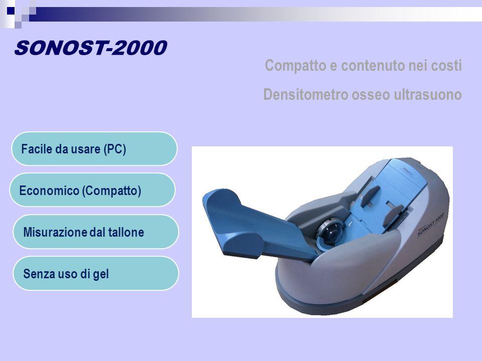 SONOST-2000 Facile da usare (PC) Economico (Compatto) Misurazione dal tallone Senza uso di gel Compatto e contenuto nei costi Densitometro osseo ultra