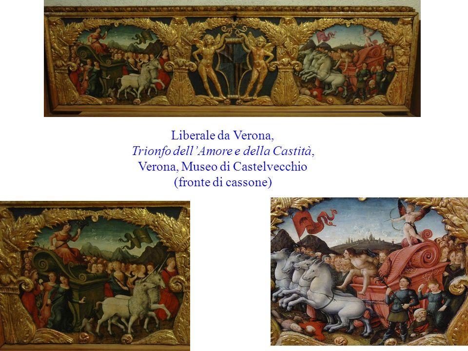 Liberale da Verona, Trionfo dellAmore e della Castità, Verona, Museo di Castelvecchio (fronte di cassone)