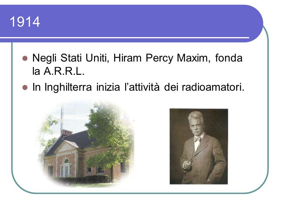 1914 – Ling. Campbell Swinton ipotizza tecnicamente le trasmissioni di Immagini.