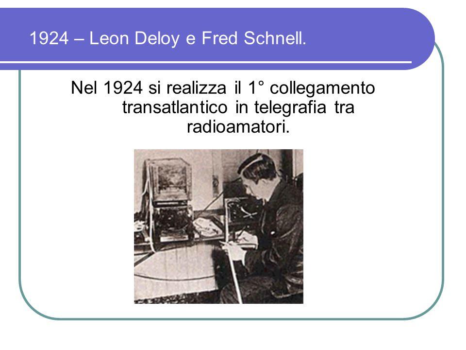 Nel 1924 si realizza il primo collegamento radiotelefonico tra Poldhu in Inghilterra e lAustralia.