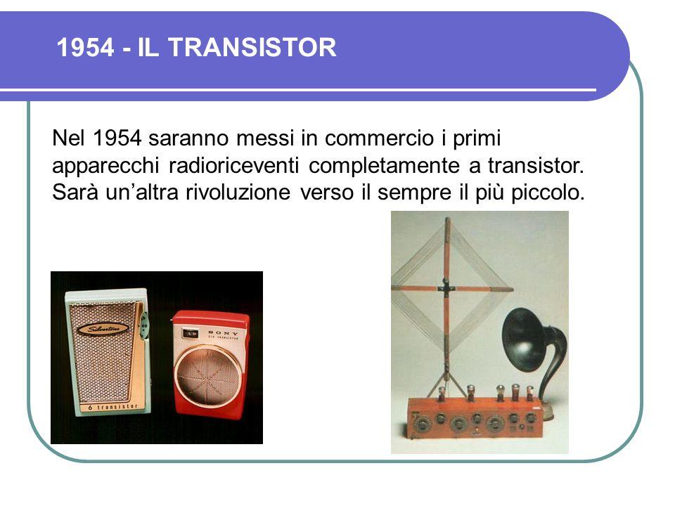 Nel 1948 John Bardeen, Walter Brattain e William Stockley realizzano in laboratorio il primo Transistor della storia.
