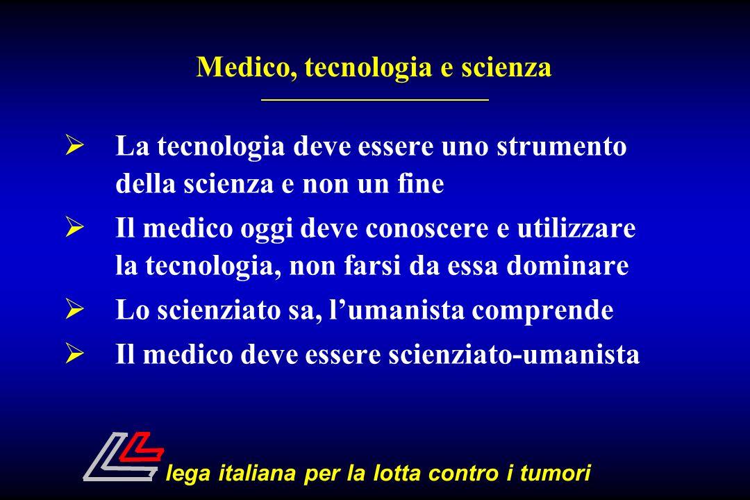 La tecnologia deve essere uno strumento della scienza e non un fine Il medico oggi deve conoscere e utilizzare la tecnologia, non farsi da essa domina